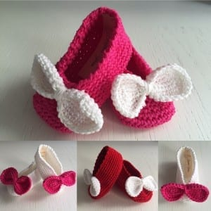 Mamma Guru:Scarpine neonato cotone 100% Handmade uncinetto