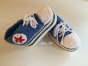 Mamma Guru: Scarpine stile Converse uncinetto cotone 100% Handmade