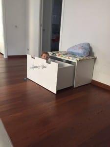 Mamma Guru: panca con vano contenitore Stuva Ikea