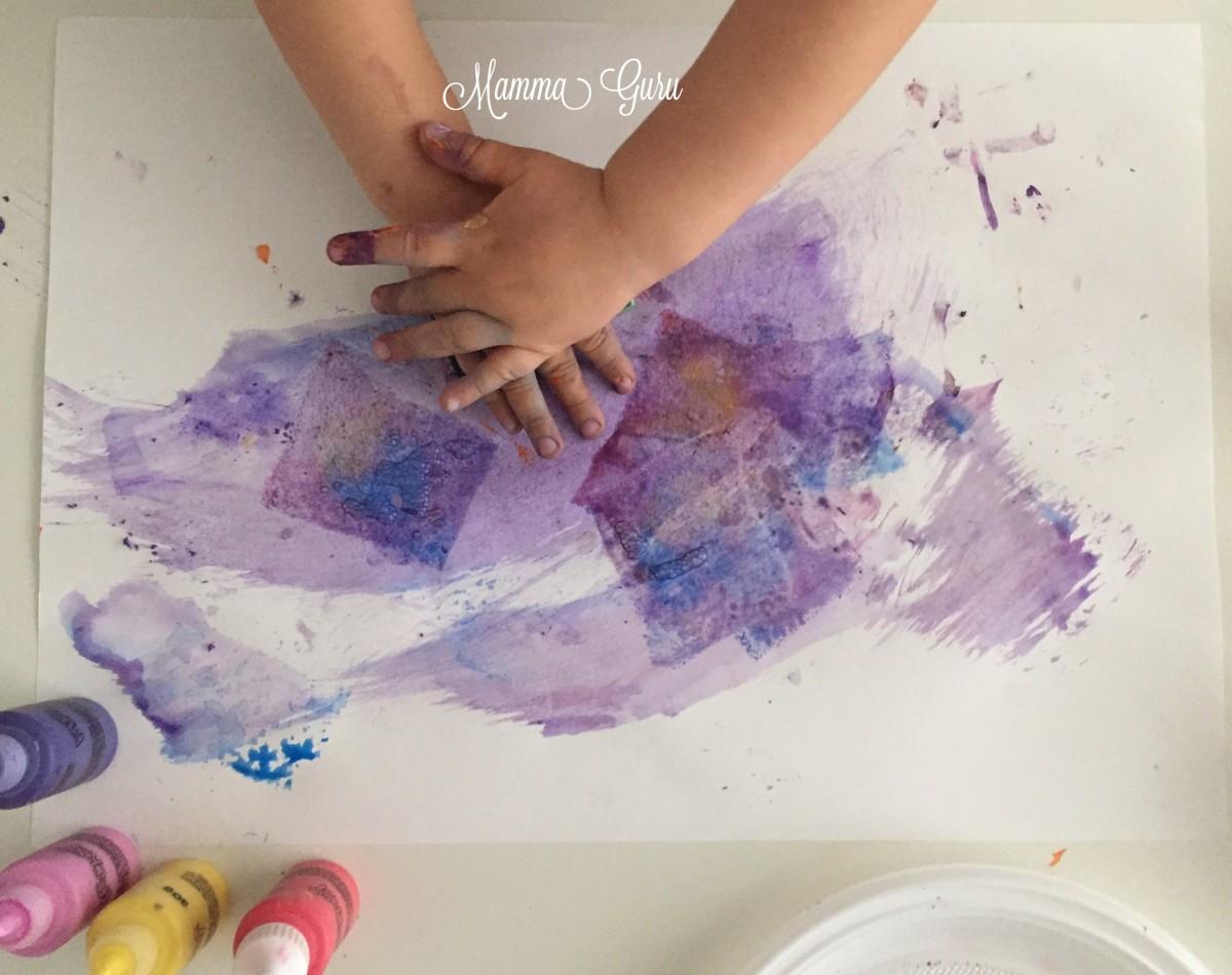 Super Dipingere con le spugnette ed i colori alimentari Klecksi | Mamma  OA35