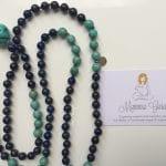 Mamma Guru: Collana Mala con Mano di Fatima, Howlite, Lapislazzuli, Turchese