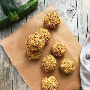 Ricetta Apericena Polpette Zucchine Menta e Nocciole